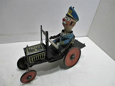 Marx Traffic Polices Car Good Condition All Tin Made In Usa