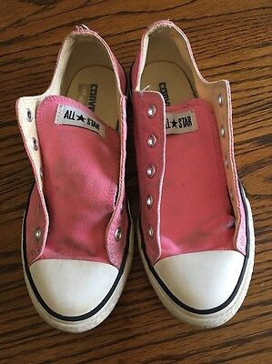Converse All Star Girls Shoes Size 2 Pink