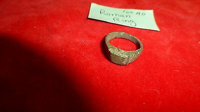 Ancient Ca 100 Ad Early Roman Ring - Exc Uncleaned Patina