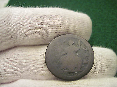 1719 Half Penny George The 1st Colonial Coin