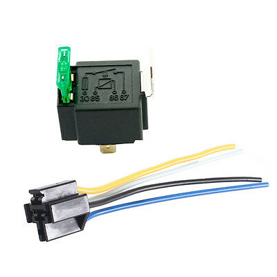 12V 30A Car Automotive Heavy Duty Relay 4Pin Fuse Fused On/Off SPST Plug Sales