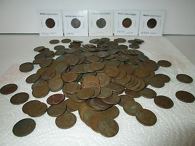 240 Lincoln Wheat Pennies Mixed Lot With Bonus Indian Head Cents