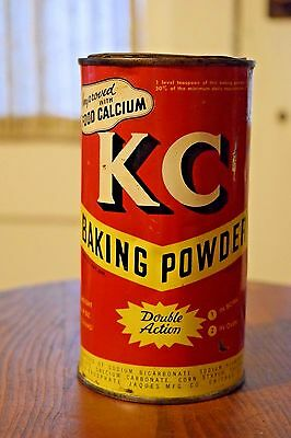 Vintage KC Baking Powder Tin Can With Lid 25 Ounce Jacques Mfg. Chicago