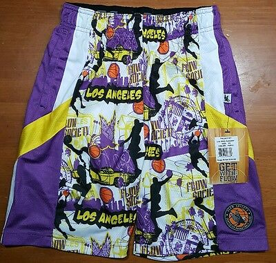 Flow Society Hoops Shorts LOS ANGELES Basketball Youth Kids SIZE Extra Small XS
