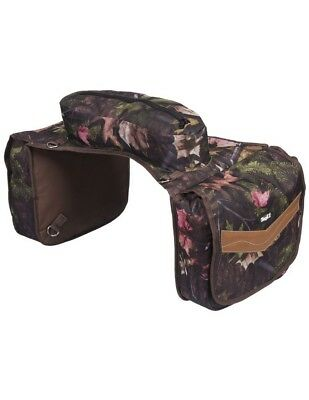 Tough-1 Saddle Bag Insulated Flaps Padded Pockets Zipper 61-7795