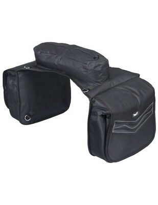 Tough-1 Saddle Bag Insulated Flaps Padded Pockets Zipper 61-9595