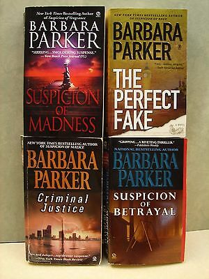 Lot 4 Books,   by Barbara Parker, Mystery  Paperback Books, ,  See list.