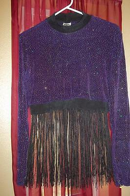 Adult Body Wrappers Purple Fringe Costume