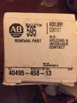 A-B Quality 595-A Set C Auxiliary Contact