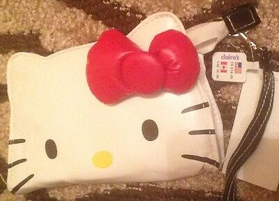 NWT Hello Kitty Pouch Zip Up Mini Small Purse Bag Wallet Claire's