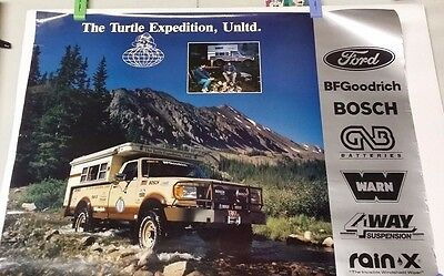 1987 Turtle Expedition Ford BFGoodrich Bosch Promotional Off Road Poster