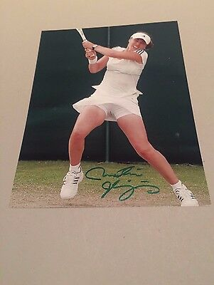 MARTINA HINGIS TENNIS signed Photo 20x27 Autogramm