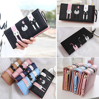 Womens Fashion Lady's Zip Bag PU Long Purse Clutch Wallet Credit Card Holder  US