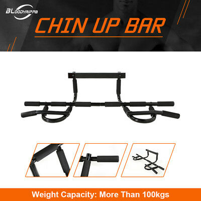 Chin Up Workout Bar Home Door Pull Up Abs Exercise Doorway Wall Fitness Train
