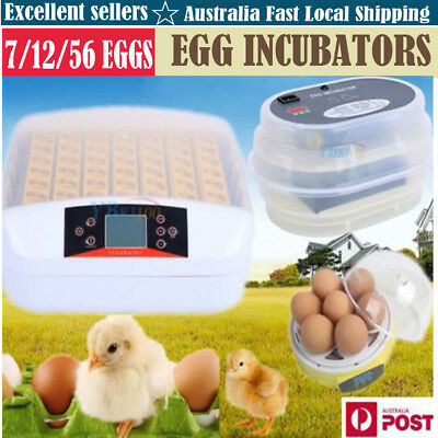 Farm Digital Automatic Chicken 7/12/56 Egg Incubators Poultry Fully Harcher Hq