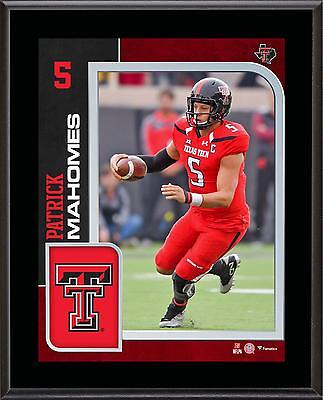"""Patrick Mahomes Texas Tech Red Raiders 10.5"""" x 13"""" Sublimated Player Plaque"""