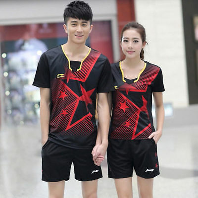 Li-Ning Men's badminton suits tennis table tennis volleyball T-shirt and shorts