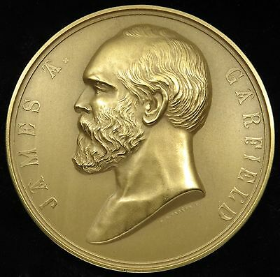 "U.S. Mint Medal No. 120 President James Garfield 3"" Bronze"