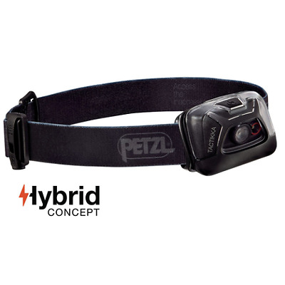 Petzl NEW Tacktikka + RGB 250 Lumens Fishing Headtorch Hybrid Black - E89ABA