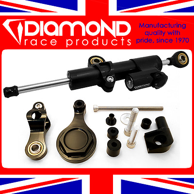 Diamond Gas Pressurised Steering Damper Incl. Fitting Kit For 2017 17 Yamaha R6