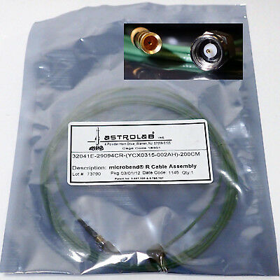 HUBER SUHNER ASTROLAB 32041E-29094CR MICROBEND R CABLE COAXIAL SMA(m) 200CM BNIB