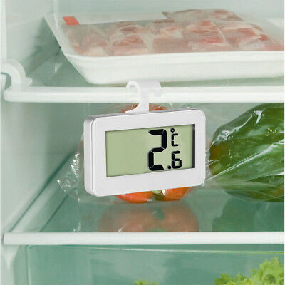 Digital LCD Fridge Freezer Refrigerator Thermometer Hang Hook Waterproof BI553