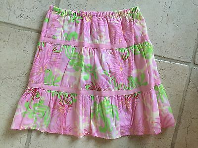Girls Lilly Pulitzer Skirt Size 10 Pink Green Flowers