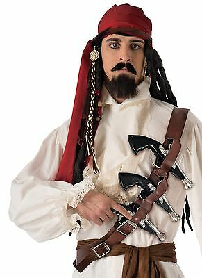 Pirate Gun Belt Fancy Dress Caribbean Accessory Adult Captain Sparrow