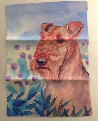 """Airedale Terrier Garden Flag USA  Double Sided 11"""" x 15"""" Dog Pet Birthday Gift"""