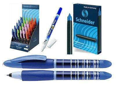 Penna Sferografica Cancellabile Schneider Base Ball blù+Cartucce+Cancellino