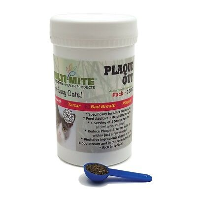 PLAQUE OUT® - for FUSSY Cats 100G - Plaque Off Bad Breath and Tartar Removal!