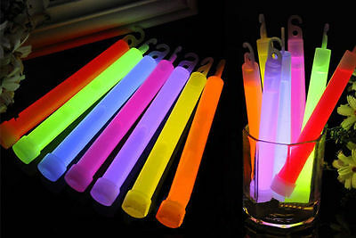 "6"" Light Glow Sticks Party Fun Camping Emergency Survival Hook Lanyard hc"