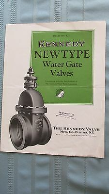 1930's Kennedy Valve Company Water Gate Valves Brochure-Fire Hydrants