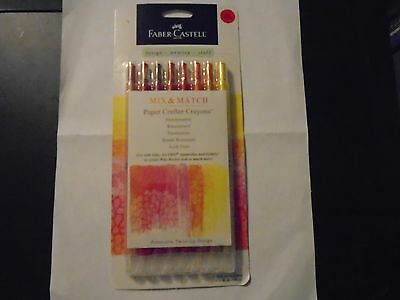 """""""faber-Castell Paper Crafter Crayons"""" Red/ Yellow Fbr770520 New"""