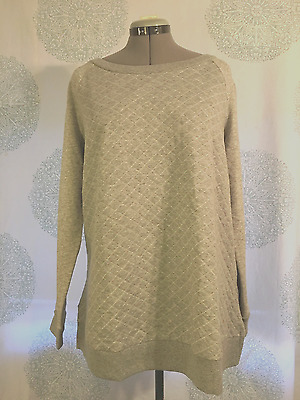 NWT Liz Lange for Target Quilted Maternity Sweatshirt Grey Size XXL