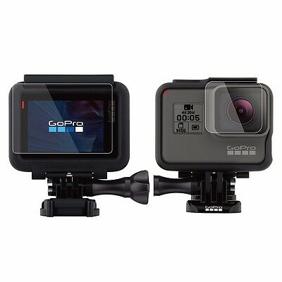 2 Sets LCD Screen Protector&Lens Protector Film for GoPro Hero 6 5 Action Camera