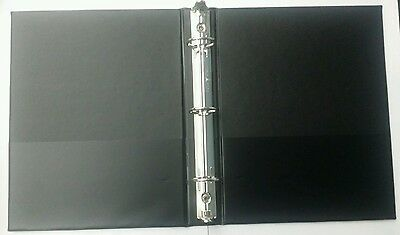 (3) 3 RING BINDER 9 x 7 inch by 1 inch Black Vinyl AVERY ** Great Deal**