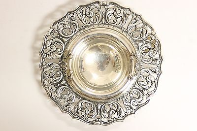 Vintage Ornate WALLACE MADRILENA Footed Silver Centerpiece Bowl w/ Handles EPNS