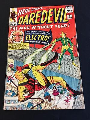 Daredevil #2 2nd Appearance of Daredevil post #1 + Electro - 5.0 Very Good/Fine