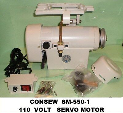 Consew  Sm-550-1  110 Volt  Servo Motor For  Industrial Sewing Machine