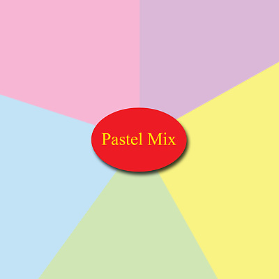 Craft Card  - Pastel Mix - 160g A4 Assorted Pastel Colours -  40 Sheets Pack
