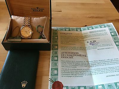 Rolex DateJust Stainless Steel/18K/Yellow Gold Men's Watch With Box And Paper
