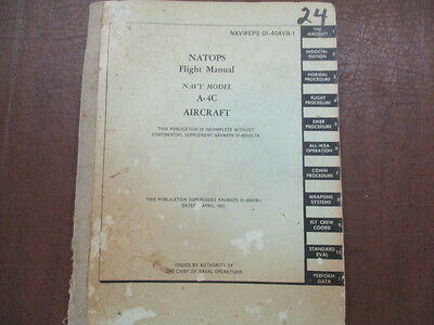 A-4 C model skyhawk Flight Manual 1963 has issues on rear pages