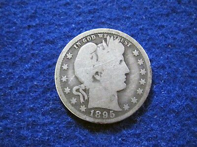 1895 O Barber Quarter - Nice Circulated - Scarcer Date/Mint - Free U S Shipping
