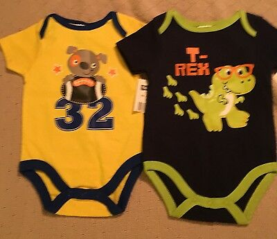 Cute Set Of 2 New Boys One Piece 0-3 Month Outfits