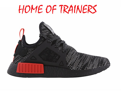 788c6f68de22a Adidas NMD XR1   BRED   Primeknit Black White Red Men s Trainers UK 7.5