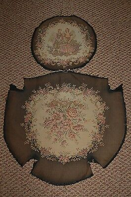 Very Old French Tapestry Seat Cover