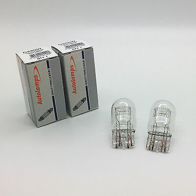 2 x Autolamps 380W W21/5W Capless Brake Stop Light Bulb 580 12v 21/5w