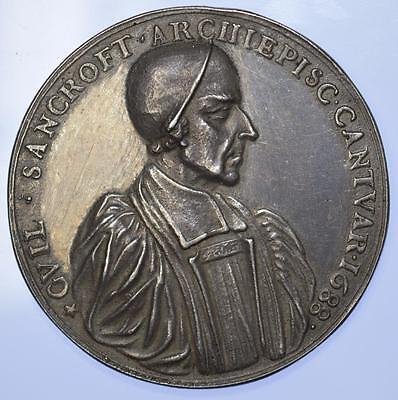 England - 1688 Archbishop Sancroft and 7 Bishops Medal silver medal