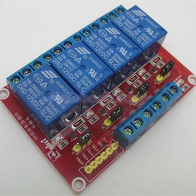 5,12,24V 4 Channel Relay Board Module Optocoupler LED for Arduino PiC ARM AVRC